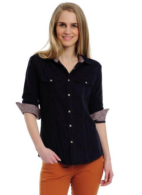 Lee Cooper Kadın Gömlek | Kadife Lacivert