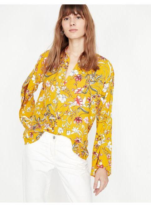 Koton Kadın Çiçekli Gömlek Sarı