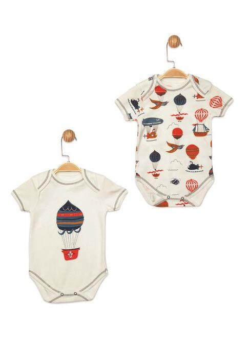 Panolino Erkek Bebek Body Beyaz İndirimli Fiyat