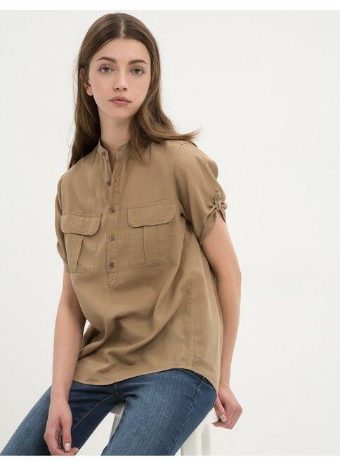 Koton Kadın Gömlek Bej İndirimli Fiyat