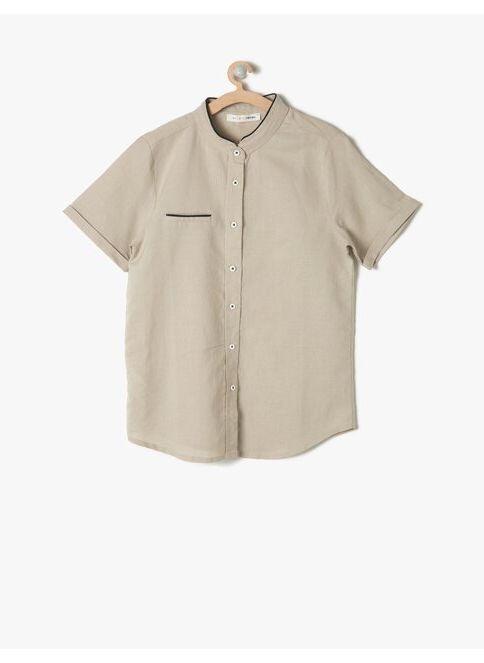 Koton Kids Erkek Çocuk Gömlek Bej İndirimli Fiyat