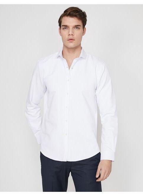 Koton Erkek Gömlek Beyaz/000