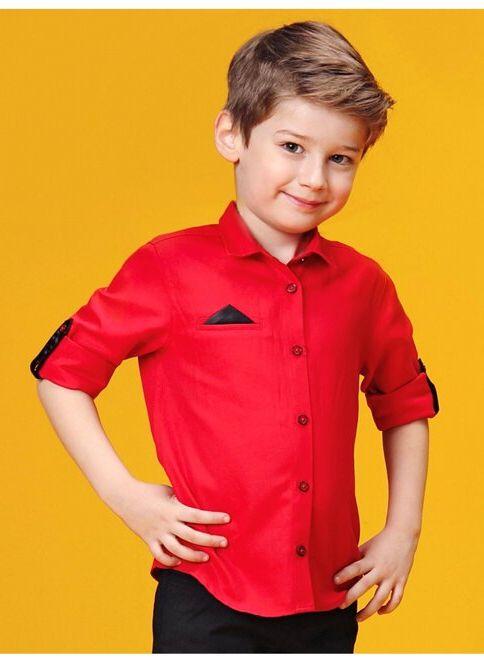 LC Waikiki Erkek Çocuk Gömlek Red