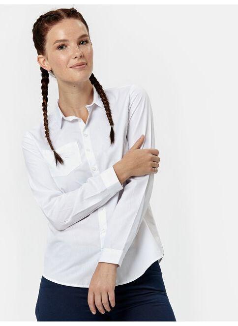 LC Waikiki Kadın Düz Uzun Kollu Gömlek Whıte