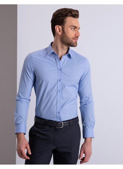 Pierre Cardin Erkek Gömlek Mavi İndirimli Fiyat