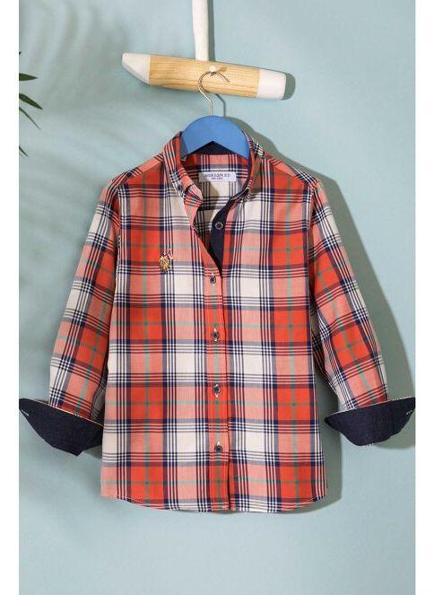 U.S. Polo Assn. Erkek Çocuk Gömlek Kırmızı İndirimli Fiyat ...
