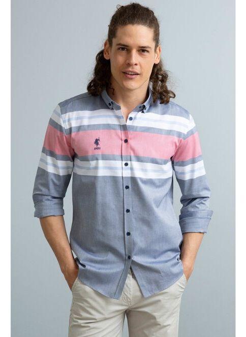U.S. Polo Assn. Erkek Gömlek Lacivert İndirimli Fiyat