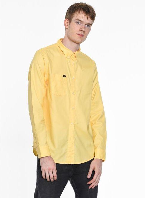Lee Erkek Uzun Kollu Slim Fit Gömlek Golden Haze