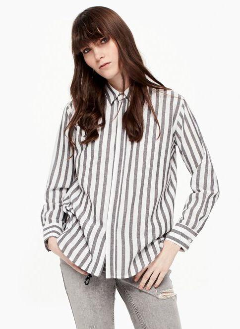Twist Kadın Gömlek Sıyah