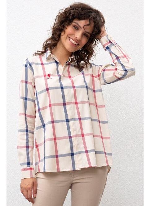 U.S. Polo Assn. Kadın Gömlek Beyaz İndirimli Fiyat