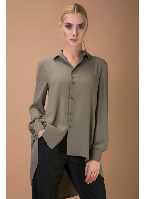 Versace 19.69 Abb.Spo.S.R.L Kadın Gömlek Yeşil İndirimli Fiyat ...